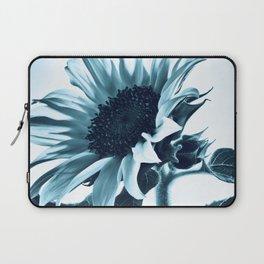 Pastel Blue Sunflower Laptop Sleeve