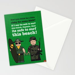 My apocalypse now lego dialogue poster Stationery Cards