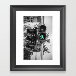 Keep on walking  Framed Art Print