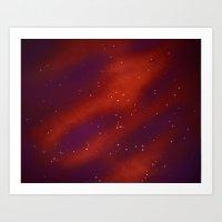 Seeing Stars- Red Art Print