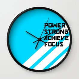 POWERFUL WORDS Wall Clock
