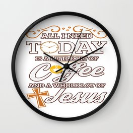 Jesus And Coffee Religion Christian Priest Gift Wall Clock