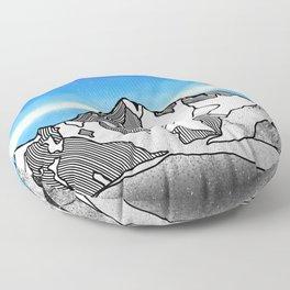K2 MOUNTAIN LANDSCAPE Floor Pillow