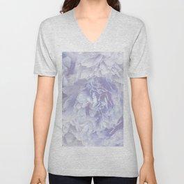 Flower Bouquet In Pastel Blue Color - #society6 #buyart Unisex V-Neck