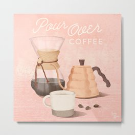 Pour Over Coffee Metal Print