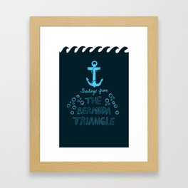 Greetings from The Bermuda Triangle Framed Art Print