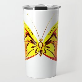 yellow butterfly Travel Mug