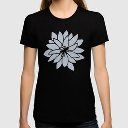 Flower Bluebell Blue on White T-shirt