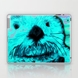 Sea Otter, mint green Laptop & iPad Skin