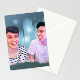 Dan and Phil   Digital Painting Stationery Cards
