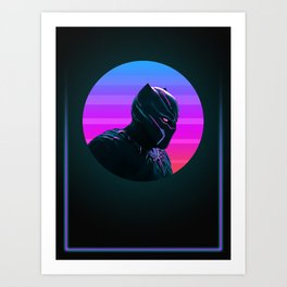 Black Panther 80's Character Poster Art Print