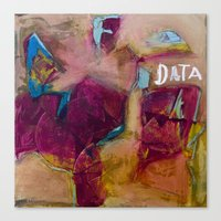 data Canvas Prints featuring DATA by Houston Christopherson