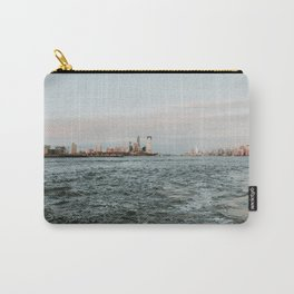 Statue of Liberty with skyline NYC with Sunset   Colourful Travel Photography   New York City (USA) Carry-All Pouch