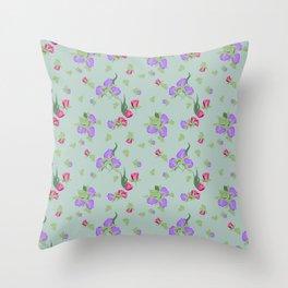 Violet Garden Throw Pillow
