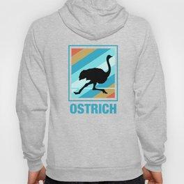 Vintage Ostrich design Retro Ostrich Silhouette design Hoody