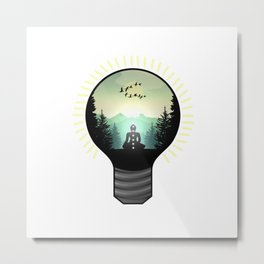 Enlightenment - I - white background Metal Print
