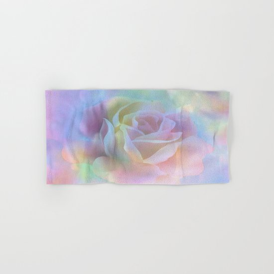Pastel Watercolor Rose Hand & Bath Towel