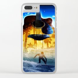 Surf Git Sunset Clear iPhone Case
