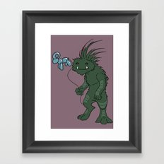 Chupacabra's Day Out Framed Art Print