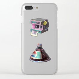 Illustration 90s Retro Clear iPhone Case