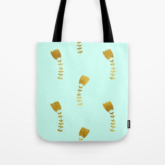 Mint Gold Foil 03 Tote Bag