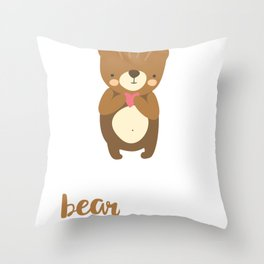 Valentine   I Love You Beary Much Throw Pillow