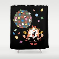 saga Shower Curtains featuring the neverending saga by kemiemo