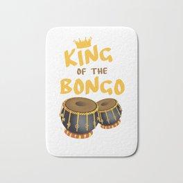 King Of The Bongo Drummer Bongos Player Music Teacher Bath Mat
