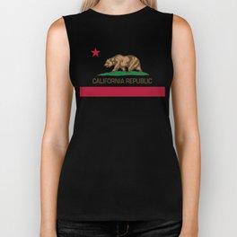 California flag Biker Tank