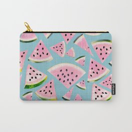 Watermelon Twist Vibes #5 #tropical #fruit #decor #art #society6 Carry-All Pouch