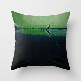 Marsh in Spring Throw Pillow