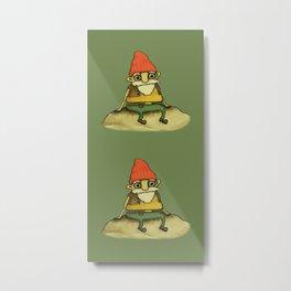 Garden Gnome Metal Print