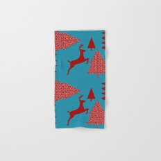 Reindeer blue Hand & Bath Towel