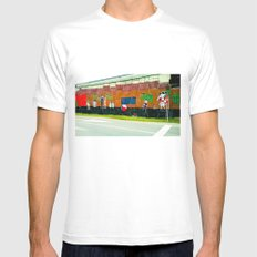 Graffiti under the bridge (El Chavo Del 8). Mens Fitted Tee White MEDIUM