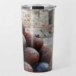 Cannonballs at San Felipe del Morro Travel Mug