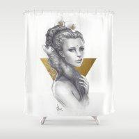 ferret Shower Curtains featuring Ferret by Bea González