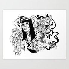 Nicotine & Unbroken Line Art Print