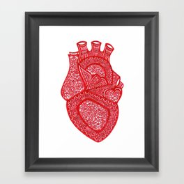 Anatomically Correct Heart Design Framed Art Print