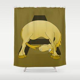 Pony Monogram Letter A Shower Curtain