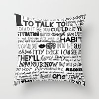 word Throw Pillows featuring Word by Etiquette