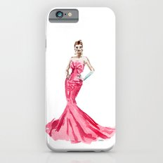 Sabrina / Hepburn Fuschia Pink Red | Fashion Gown Dress iPhone 6 Slim Case