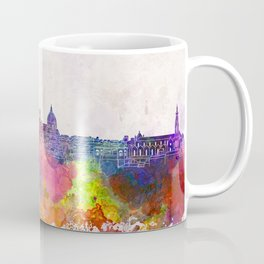 Florence skyline in watercolor background Coffee Mug