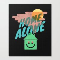 home alone Canvas Prints featuring Home Alone by Nick Nelson