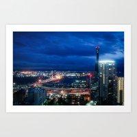 kobe Art Prints featuring City Lights in Kobe pt2 by Tomoyuki Murakami