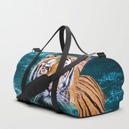Tiger in Water Duffle Bag