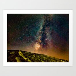 Copper Mountain Galaxy // Incredible Photograph of the Milky Way Stars and Cosmic Dust Art Print