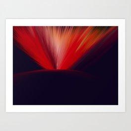 Flaming Planet Art Print