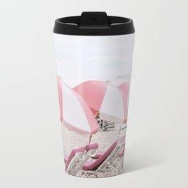 Pink beach Travel Mug