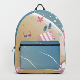 Isolated Beach Paradise with crystal waters Backpack