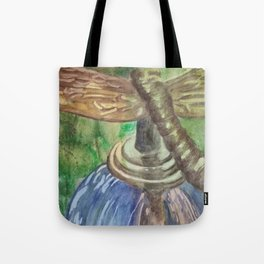 Garden Party Dragonfly Tote Bag